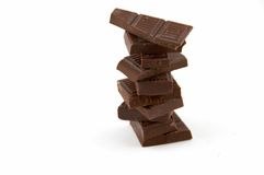 ломтики горькmGs шоколада стоковое фото rf