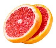 Ломтики грейпфрута изолированные на белизне Стоковое Изображение