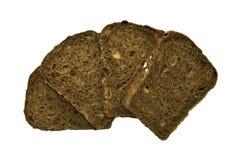 ломтики изолированные хлебом Стоковая Фотография