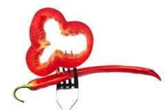 ломтики красного цвета перца паприки Стоковое фото RF