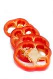 ломтики красного цвета перца паприки Стоковые Изображения RF