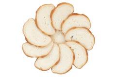 ломтики круга хлеба Стоковые Фотографии RF