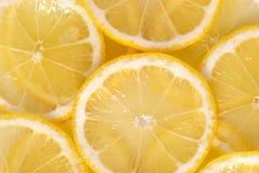 ломтики лимона backgound Стоковая Фотография