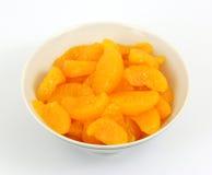 ломтики мандарина тарелки Стоковая Фотография RF