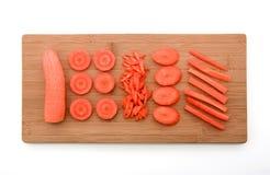 ломтики моркови свежие органические Стоковая Фотография