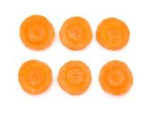 ломтики моркови свежие органические Стоковые Изображения RF