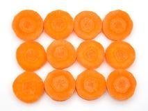 ломтики моркови свежие органические Стоковые Фотографии RF