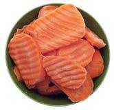 ломтики моркови шара стоковое изображение rf