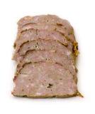 ломтики мяса хлебца Стоковые Изображения