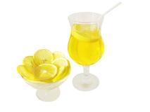 ломтики плиты лимонада лимона Стоковое Фото