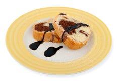 ломтики плиты торта мраморные Стоковое Изображение