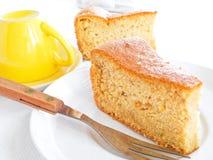 ломтики плодоовощ торта завтрака Стоковые Изображения RF