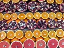 ломтики померанцового красного цвета грейпфрута Стоковое Изображение RF