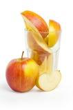 ломтики стекла яблока Стоковые Изображения