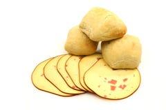 ломтики сыра хлеба свежие курили стоковая фотография