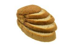 Ломтики хлеба на белой предпосылке стоковая фотография rf