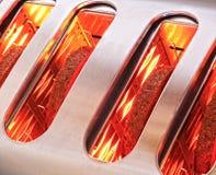 Ломтики хлеба toasting в тостере Стоковое фото RF