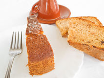ломтики шоколада торта завтрака стоковое фото rf