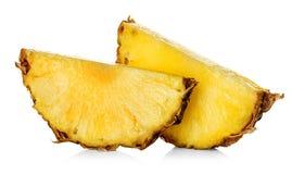 Ломтик ананаса изолированный на белизне Стоковое Изображение