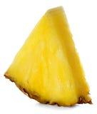 Ломтик ананаса изолированный на белизне Стоковые Фото