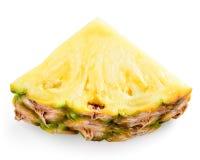 Ломтик ананаса изолированный на белизне Стоковое Фото