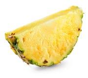 Ломтик ананаса изолированный на белизне Стоковая Фотография