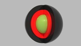 ломтик отрезока шариков Стоковые Изображения RF