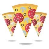 Ломтик пиццы также вектор иллюстрации притяжки corel Стоковое Изображение