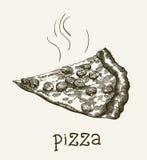 Ломтик пиццы иллюстрация вектора