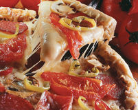 ломтик пиццы Стоковое Изображение