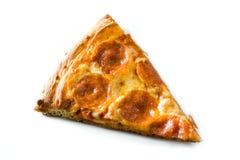 Ломтик пиццы Pepperoni стоковые фотографии rf