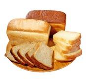 ломтик плиты хлеба Стоковое Изображение