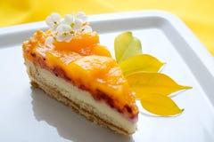ломтик плодоовощ торта Стоковое фото RF