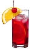 ломтик померанцового красного цвета коктеила спирта Стоковые Изображения RF