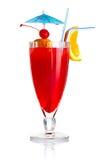 ломтик померанцового красного цвета спирта изолированный коктеилом Стоковое Изображение