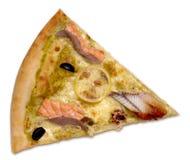 ломтик продуктов моря пиццы Стоковые Изображения RF