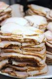 Ломтик свинины жаркого стоковые изображения rf