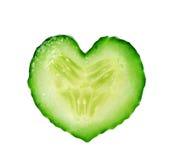 ломтик сердца огурца Стоковая Фотография RF