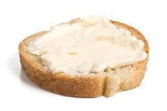 ломтик сливк сыра хлеба Стоковые Изображения RF