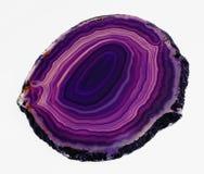 ломтик соединенный агатом отполированный пурпуровый просвечивающий Стоковые Фотографии RF