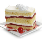Ломтик торта клубники Стоковые Фотографии RF