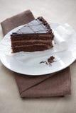 Ломтик торта шоколада лакомки Стоковые Фотографии RF