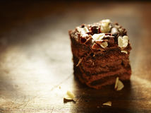 Ломтик торта шоколада лакомки Стоковые Фото