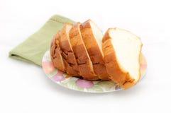 Ломтик хлеба на плите. Стоковые Изображения RF
