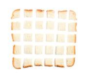Ломтик хлеба прерванный в частях Стоковое Изображение RF