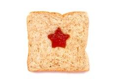 Ломтик хлеба пшеницы с звездой Стоковое Фото