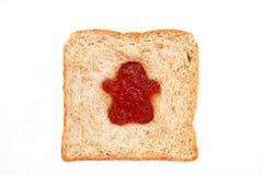 Ломтик хлеба пшеницы с мальчиком Стоковое Фото