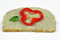 Ломтик хлеба с livewurst Стоковое фото RF