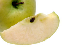 ломтик яблока стоковые изображения
