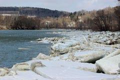 Ломти льда Стоковое Фото